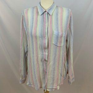Rails Charli Isla Stripe Linen Blend Shirt